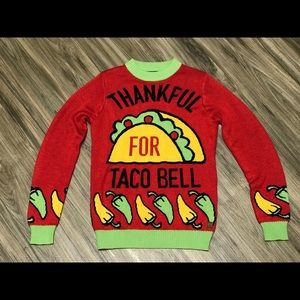 Wm Thankful For Taco Bell Sweater sz S